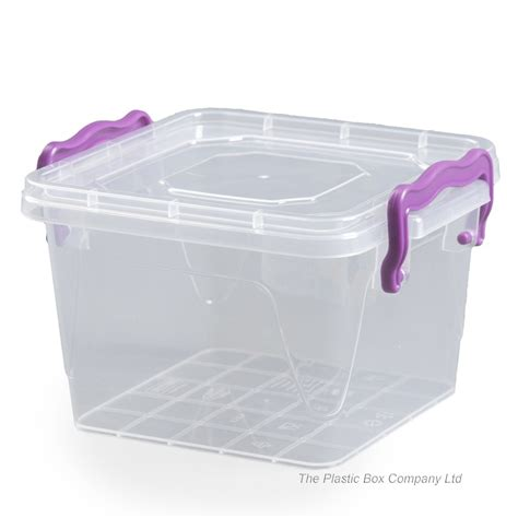 buy 1 2lt hobbylife square plastic storage box with clip