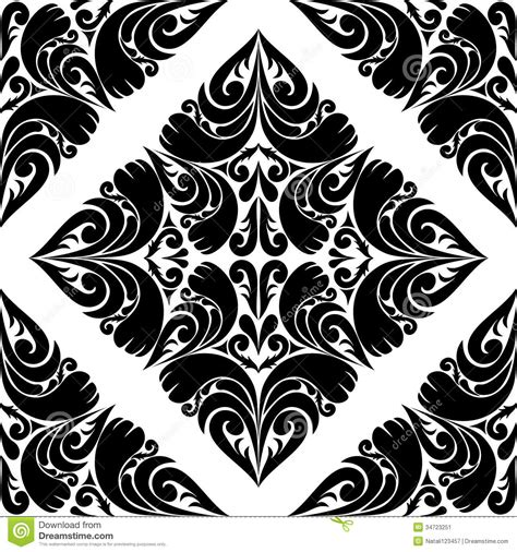 black pattern on white background seamless black pattern on a white background stock vector