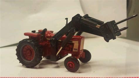 Ih 1 Black 1 64 ertl farm custom ih farmall 806 wf tractor w black loader bale spear ebay