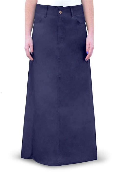 kosher casual s modest cotton twill skirt ebay