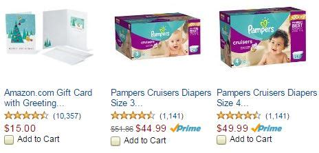 Amazon Gift Card Cost - amazon mom free 15 gift card with pers diapers purchase as low as 11 162 each