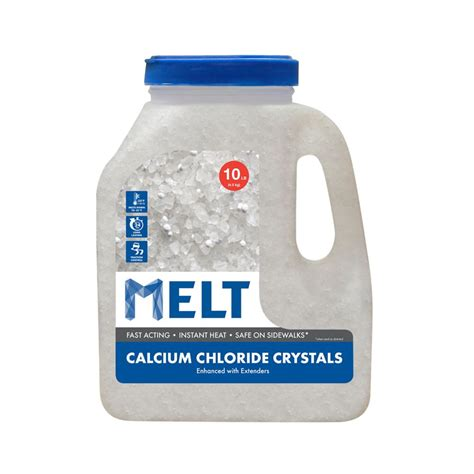 snow joe melt 10 lb jug calcium chloride crystals