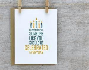 items similar to happy birthday letterpress birthday card modern typography birthday cake