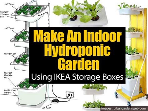 ikea hydroponics garden using ikea storage boxes to build indoor hydroponic gardens
