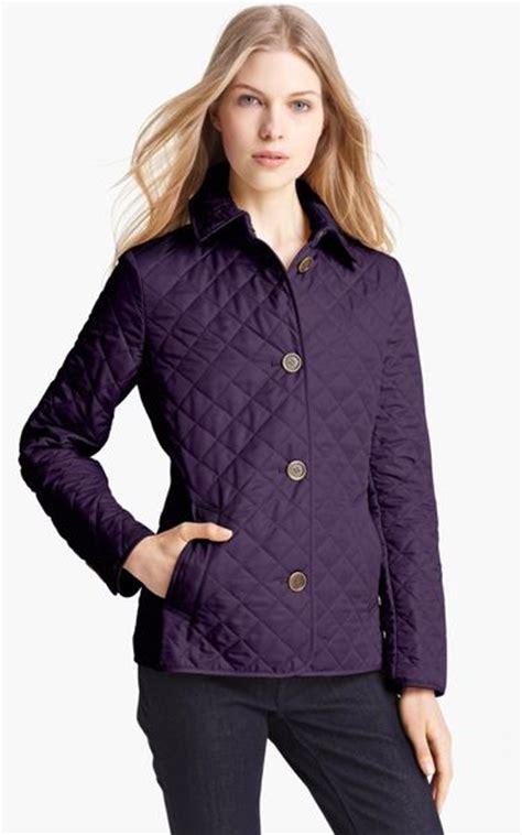 burberry brit copford quilted jacket in purple regency