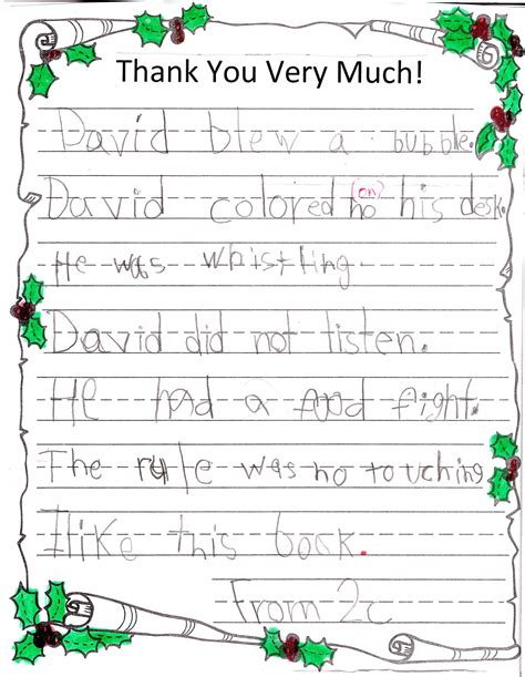 Thank You Note To 4th Grade Thank You Letter To 4th Grade Best Free Home Design Idea Inspiration