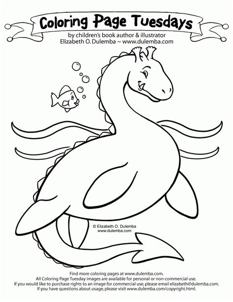 dulemba coloring page tuesday studying mouse dulemba coloring page tuesday sea serpent coloring home