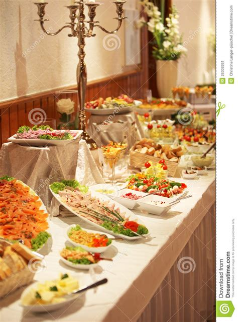 Cold buffet display stock image. Image of buffet, catered