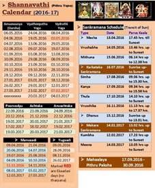 Calendar 2018 Hindu Tithi Hindu Calendar 2017 Panchangam Printable Calendar