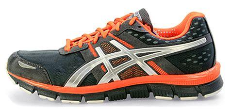 asics neon orange running shoes asics gel blur33 sz 10 5 mens running shoes