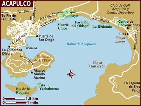 map of mexico acapulco acapulco mexico map