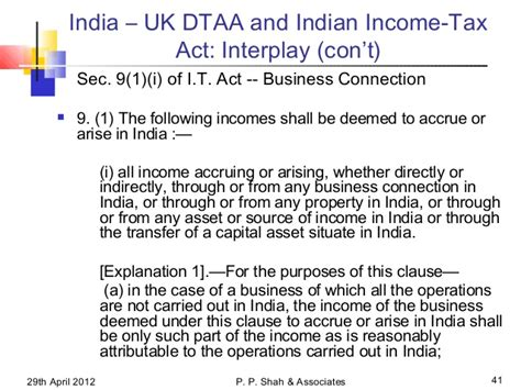 section 41 income tax act icai presentation on partnerships under the law of tax