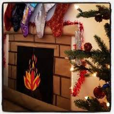 How To Make A Chimney Out Of Paper - make your own fireplace all you need poster board