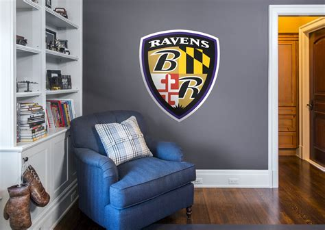 baltimore ravens home decor baltimore ravens shield logo wall decal shop fathead