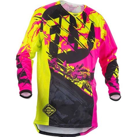 youth girls motocross gear new fly racing 2018 youth mx kinetic outlaw pink hi vis