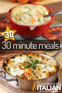 the biggest 30 minute meal round up