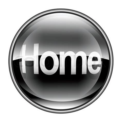 home icon black isolated on white background stock
