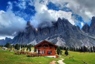 house in the mountains trees clouds house grass mountains wallpaper 2896x1944