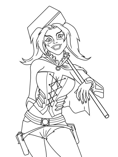 harley quinn coloring pages 20 free printable harley quinn coloring pages