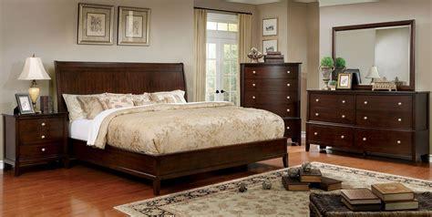 brown bedroom sets ferrero brown cherry platform bedroom set cm7483q bed