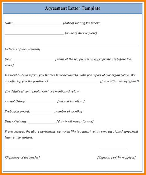 Letter Of Agreement For Salary 10 Agreement To Pay Debt Letter Target Cashier