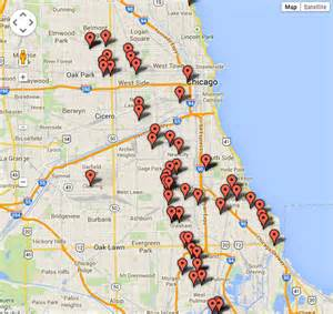 Map Of Chicago Shootings by Chicago Killings Map