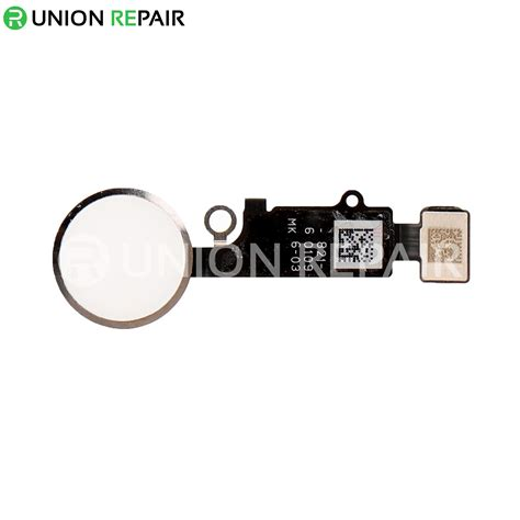 replacement for iphone 8 plus home button assembly silver