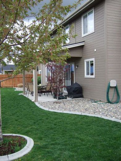 rock landscaping ideas backyard 25 best ideas about river rock landscaping on