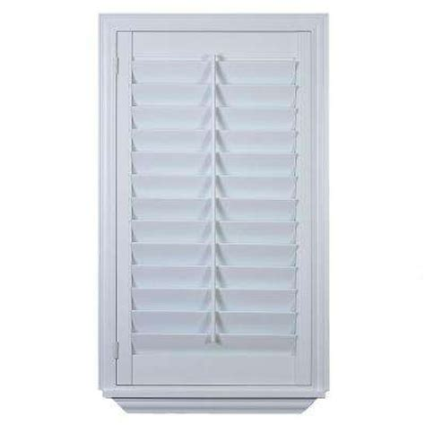 Faux Wood Shutters Plantation Shutters The Home Depot Home Depot Window Shutters Interior