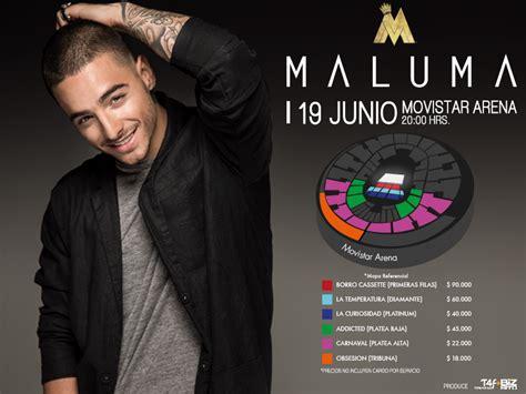 entradas para ver a maluma en junio 2016 maluma vuelve a chile 19 de junio agendamusical