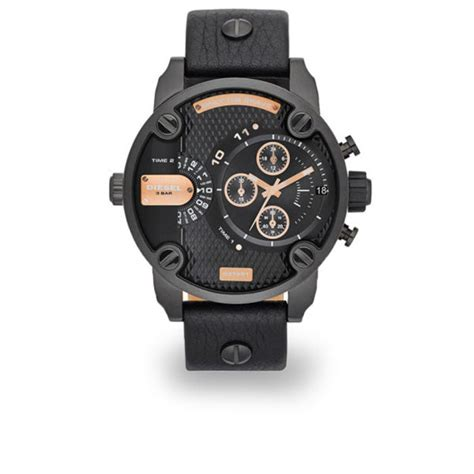 Diesel Move Black Rosegold diesel watches 51mm leather black gold clothing thehut