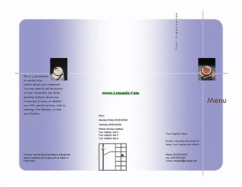 menu templates for publisher microsoft related office templates for ms office software