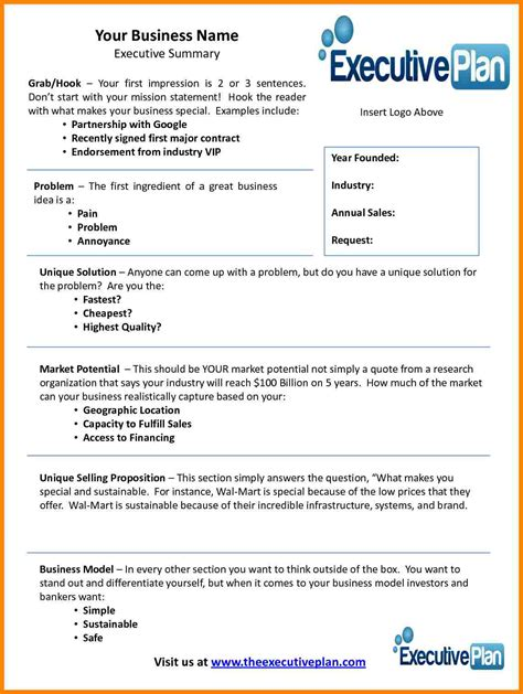 Business Plan Overview Template 9 business plan executive summary template farmer resume