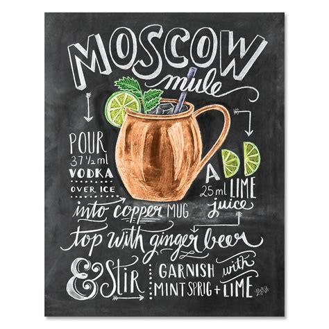 Lily & Val – Moscow Mule Print - Recipe Print - Cocktails ...
