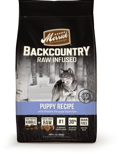 merrick grain free puppy food merrick backcountry infused grain free puppy recipe food petflow
