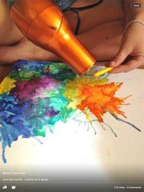 diy crayon crafts melted crayon craft with a dryer diy craft ideas