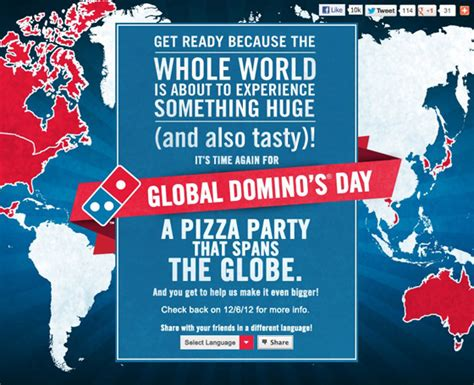 domino pizza of the day brandchannel domino s seeks global domination with