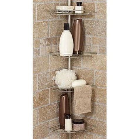 bathroom soap and shoo holder bath shower caddy corner tension rod bathtub soap shoo