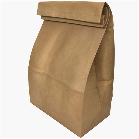 A Paper Bag - paper bag 3d model by 3d molier 3d molier 3d models