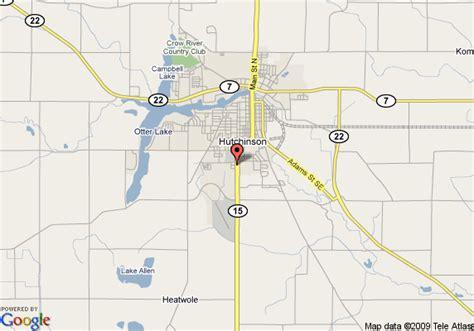 Hutch Mn Map Of 8 Motel Hutchinson Hutchinson