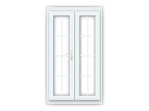 white upvc doors with geogian bar 1200mm x 2100mm