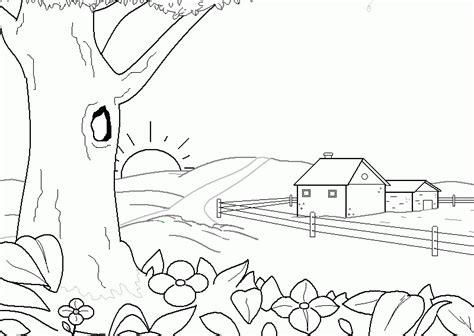 imagenes para dibujar faciles de la primavera dibujos paisajes faciles de hacer imagui