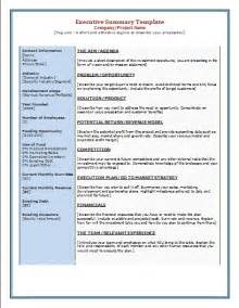 executive summary word template executive summary template free microsoft word templates