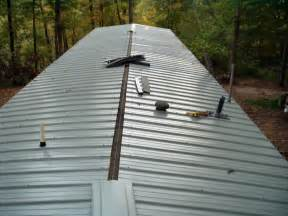 roof mobile home metal roof put metal roof mobile home