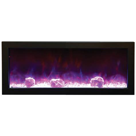 slim electric fireplace insert amantii 40 quot bi 40 slim indoor or outdoor electric