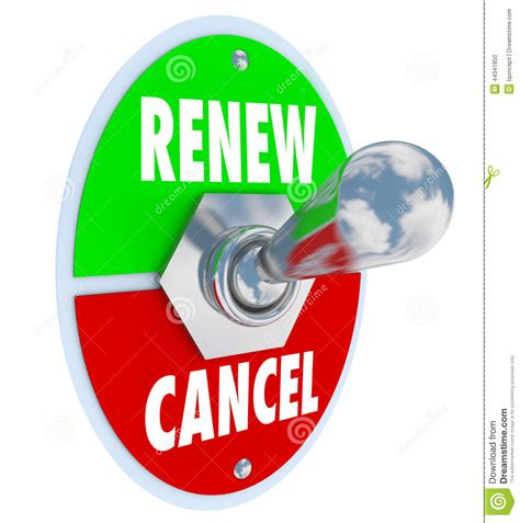 renew vs cancel words product service renewal cancellation