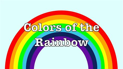how many colors in the rainbow color song how many rainbows