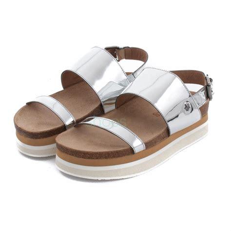 Sandal Murah Okada M Silver sandals cubanas dandelion200m silver escapeshoes