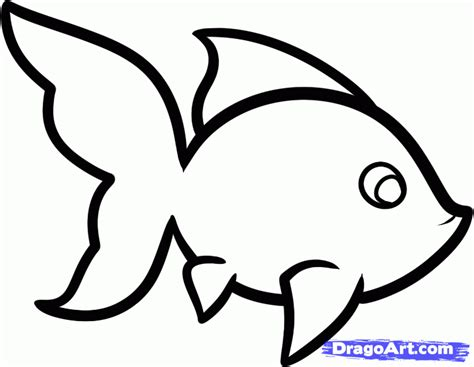 How To Draw A Goldfish For Kids Step By Step Animals For Kids For Kids Free Online Drawing Simple Drawing For Kid
