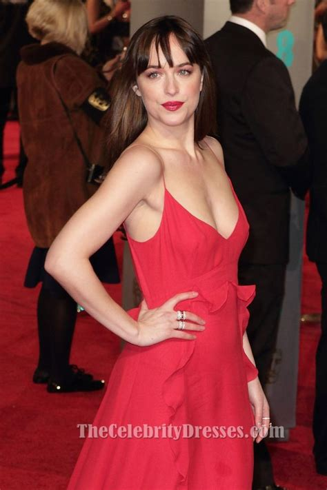 bafta 2016 awards bafta red dakota johnson red evening dress 2016 bafta awards red